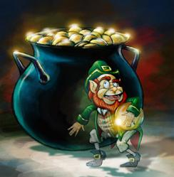 A Scene From The Film Leprechaun And Modern Representation Of
